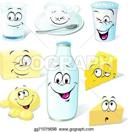 Yogurt clipart dairy Vector cartoon milk Dairy EPS