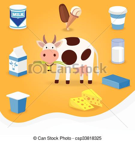 Butter clipart dairy product And cream cheese Cow Illustration