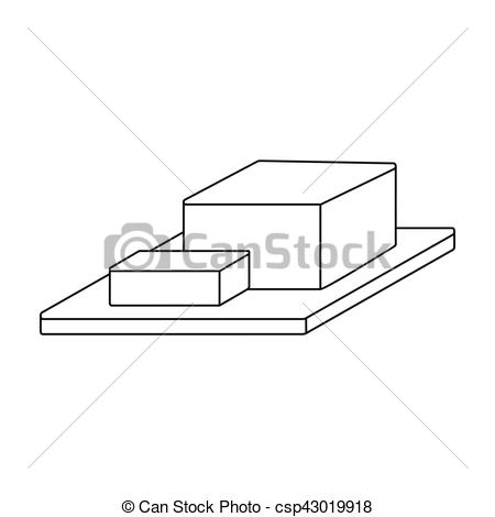 Butter clipart outline Cutting in Vector of on
