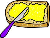 Butter clipart toast Butter bread Illustrations Stock GoGraph