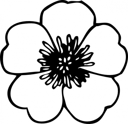 Pansy clipart black and white #10