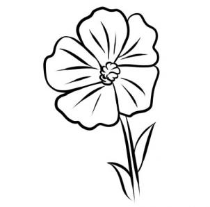 Buttercup clipart black and white Buttercup Flower How Art Clip