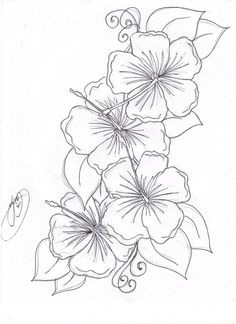 Buttercup clipart hawaiian flower Coloring Hibiscus or Tree Free