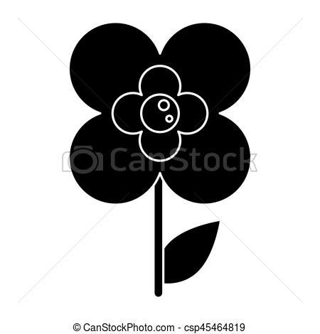 Buttercup clipart silhouette Flower buttercup Vector silhouette natural