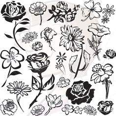 Buttercup clipart silhouette Free Art Clip Vintage Stamps