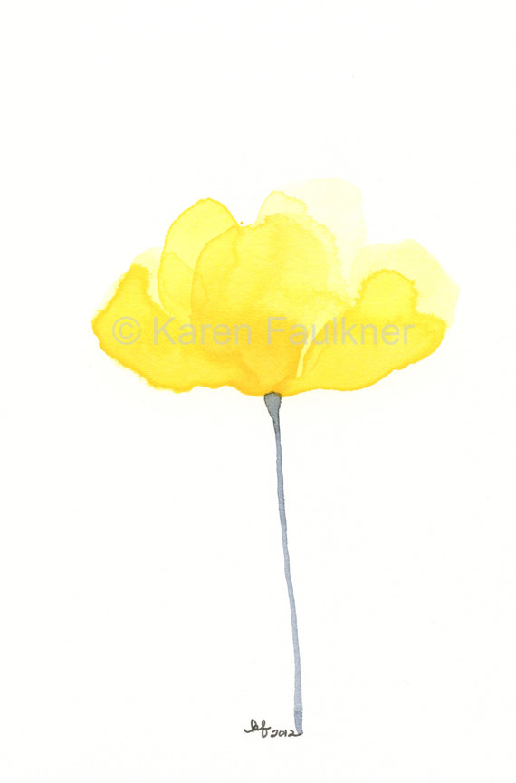 Buttercup clipart border Buttercup Buttercup grey painting 5x7
