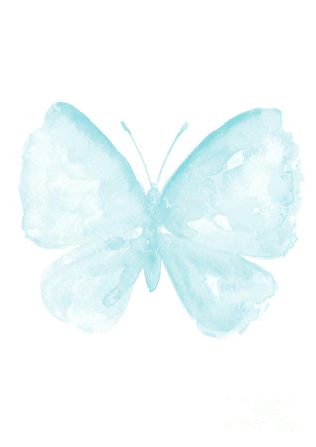 Butterfly clipart baby blue Blue  Painting Clip Blue