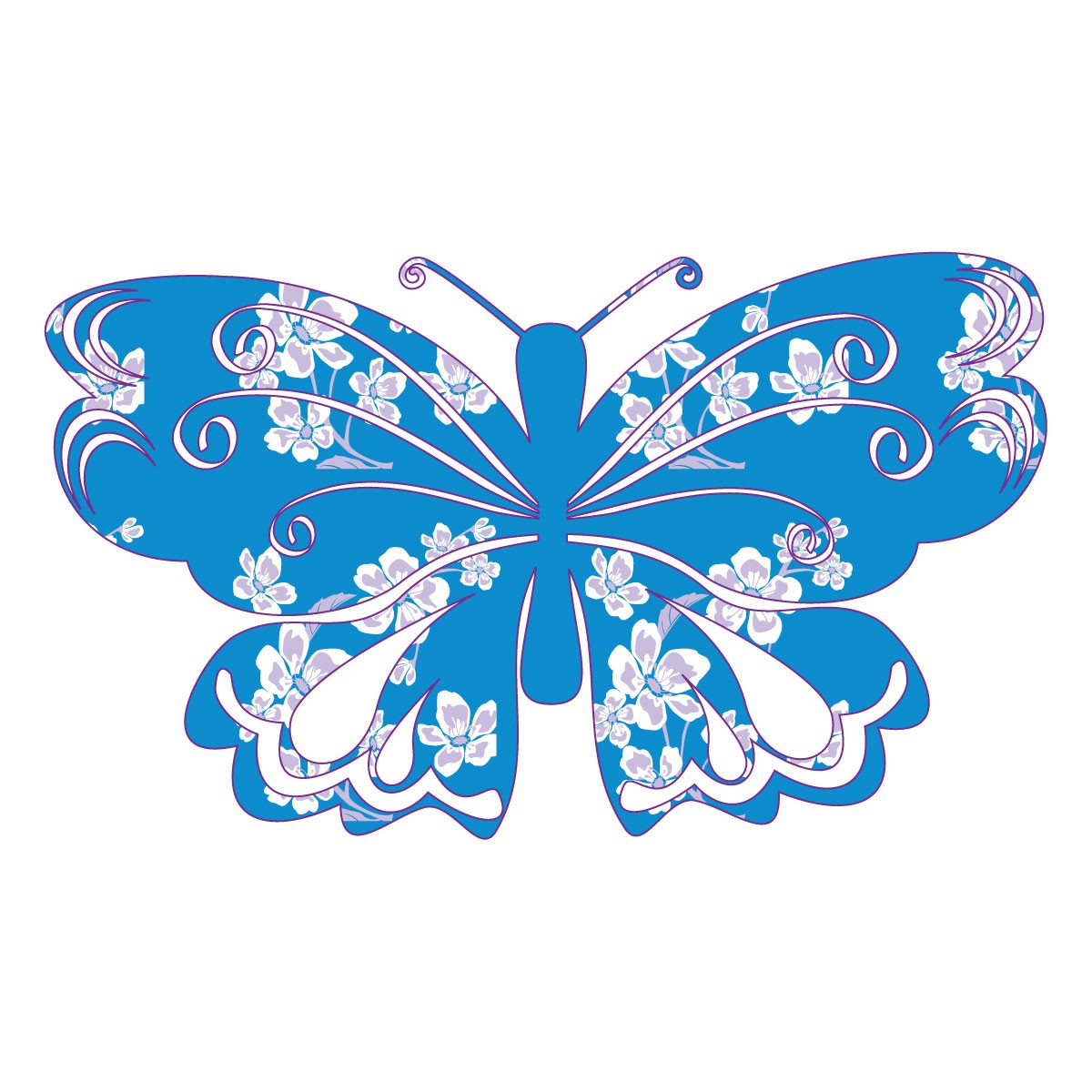 Butterfly clipart baby blue Gift Butterfly (Blue with