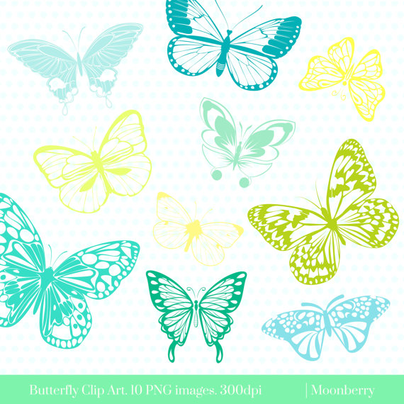 Butterfly clipart baby blue Digital Butterflies ClipArt Clip Butterflies