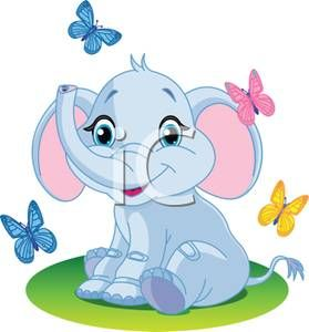 Butterfly clipart baby blue Baby Elephant Pinterest Clip clip