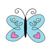 Butterfly clipart baby blue Clipart Purple Baby Free Clipart
