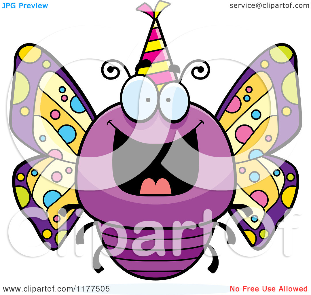 Butterfly clipart light yellow Butterfly birthday clipart birthday Happy