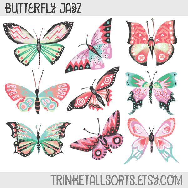 Papillon clipart cartoon On Jazz Clipart Clipart Butterfly