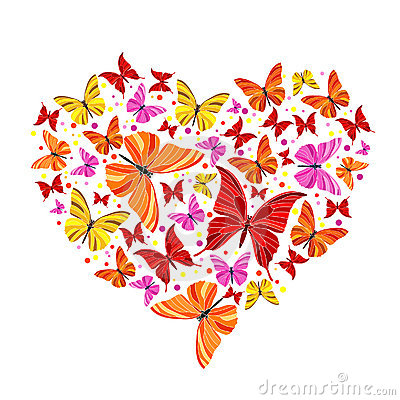 Butterfly clipart heart And clipart and butterfly clipart