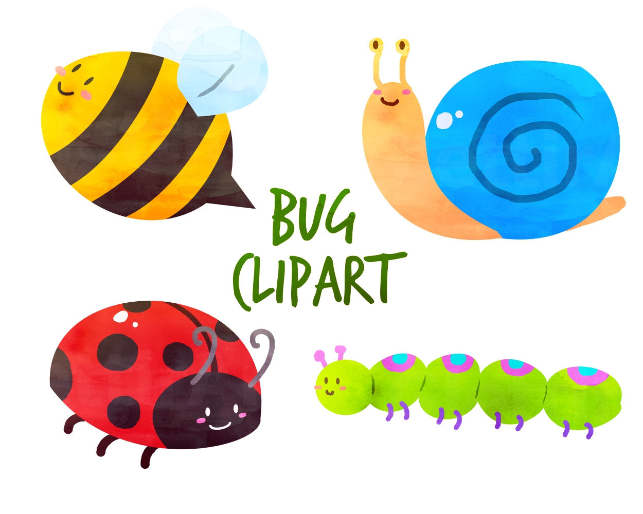 Butterfly clipart ladybug Clipart digital a for Bugs