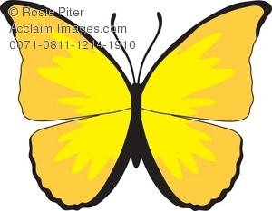 Butterfly clipart light yellow Butterfly a Illustration Free Butterfly