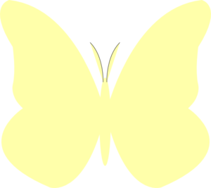 Butterfly clipart light yellow Yellow Bright at Butterfly
