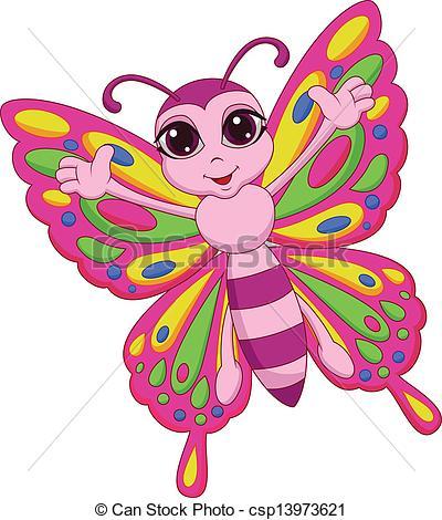 Butterfly clipart mariposa Cute cartoon Vector Cute