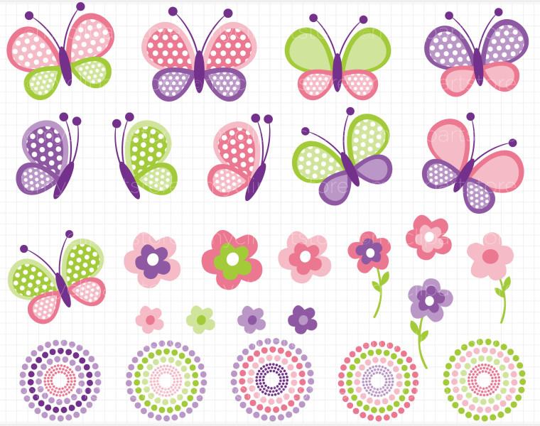 Butterfly clipart pink baby Baby girl butterflies clipart clipart