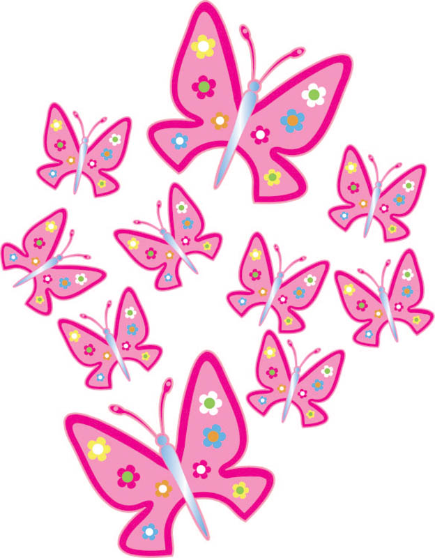 Butterfly clipart pink baby Car Baby  Stickers Stickers