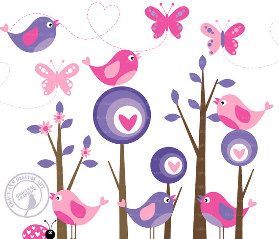 Brds clipart butterfly Purple Clip Items Free Free