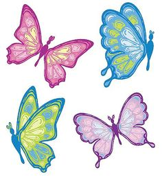 Butterfly clipart colored And  Blue Cartoon Clipart