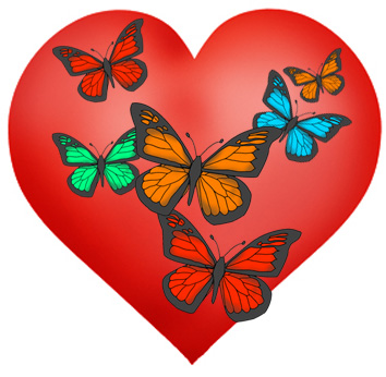 Butterfly clipart valentine's day For Valentines Hearts Valentines Day