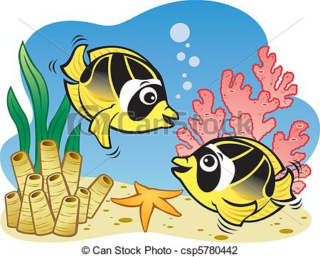 Butterflyfish clipart Sea Vector butterfly Fish of