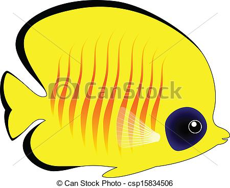 Butterflyfish clipart blue fish  Cute Butterfly White Yellow