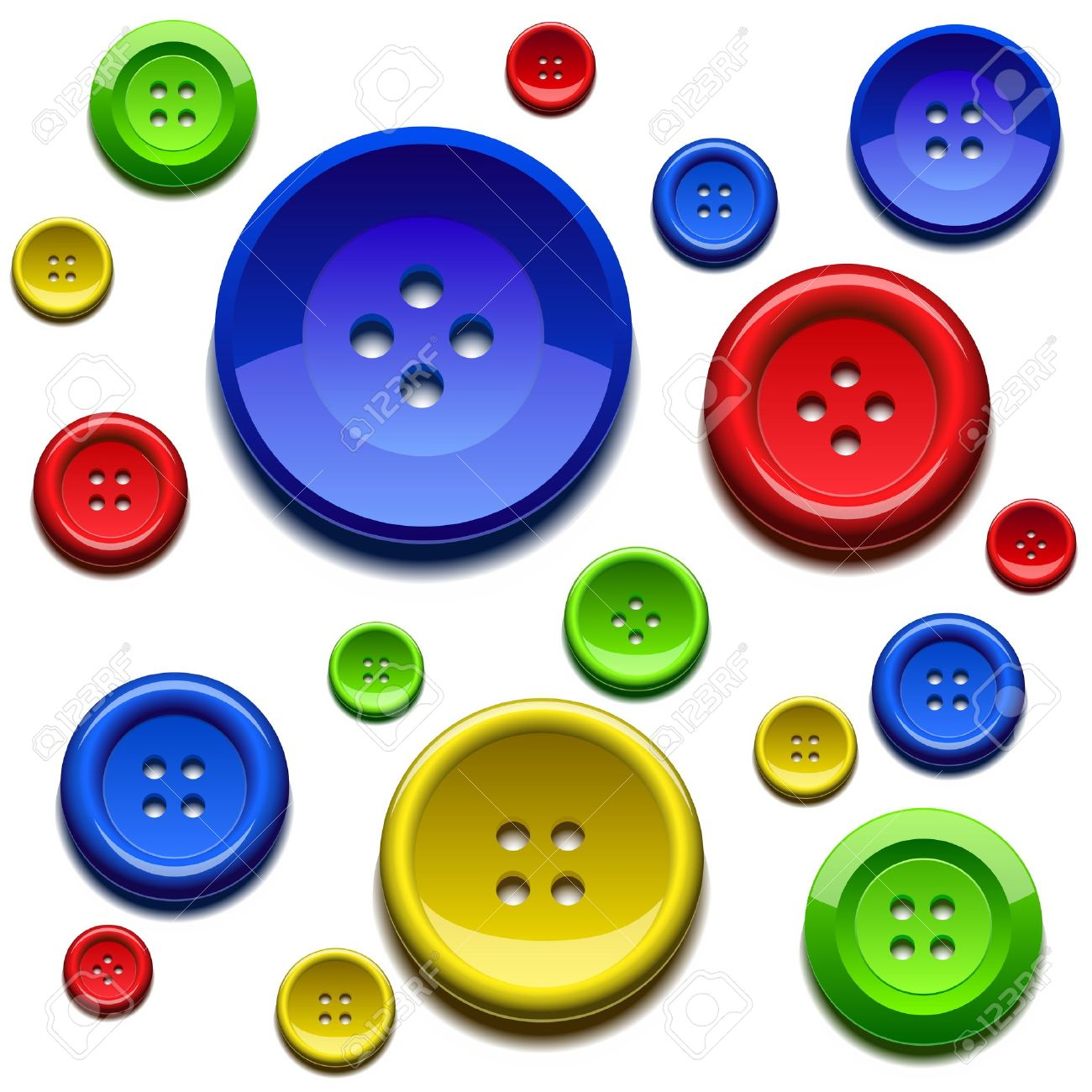Button Colored Button Clipart —