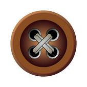 Button clipart brown Free Brown zipper isolated Button