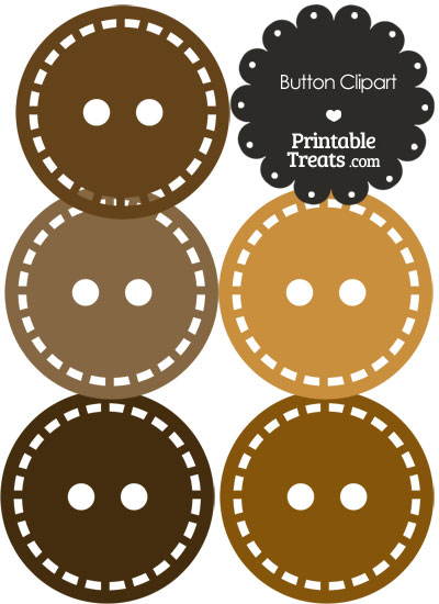 Button clipart brown In of in Clipart Brown