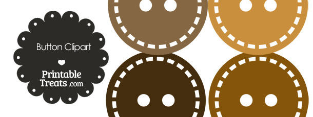 Button clipart brown Brown of in Clipart Brown
