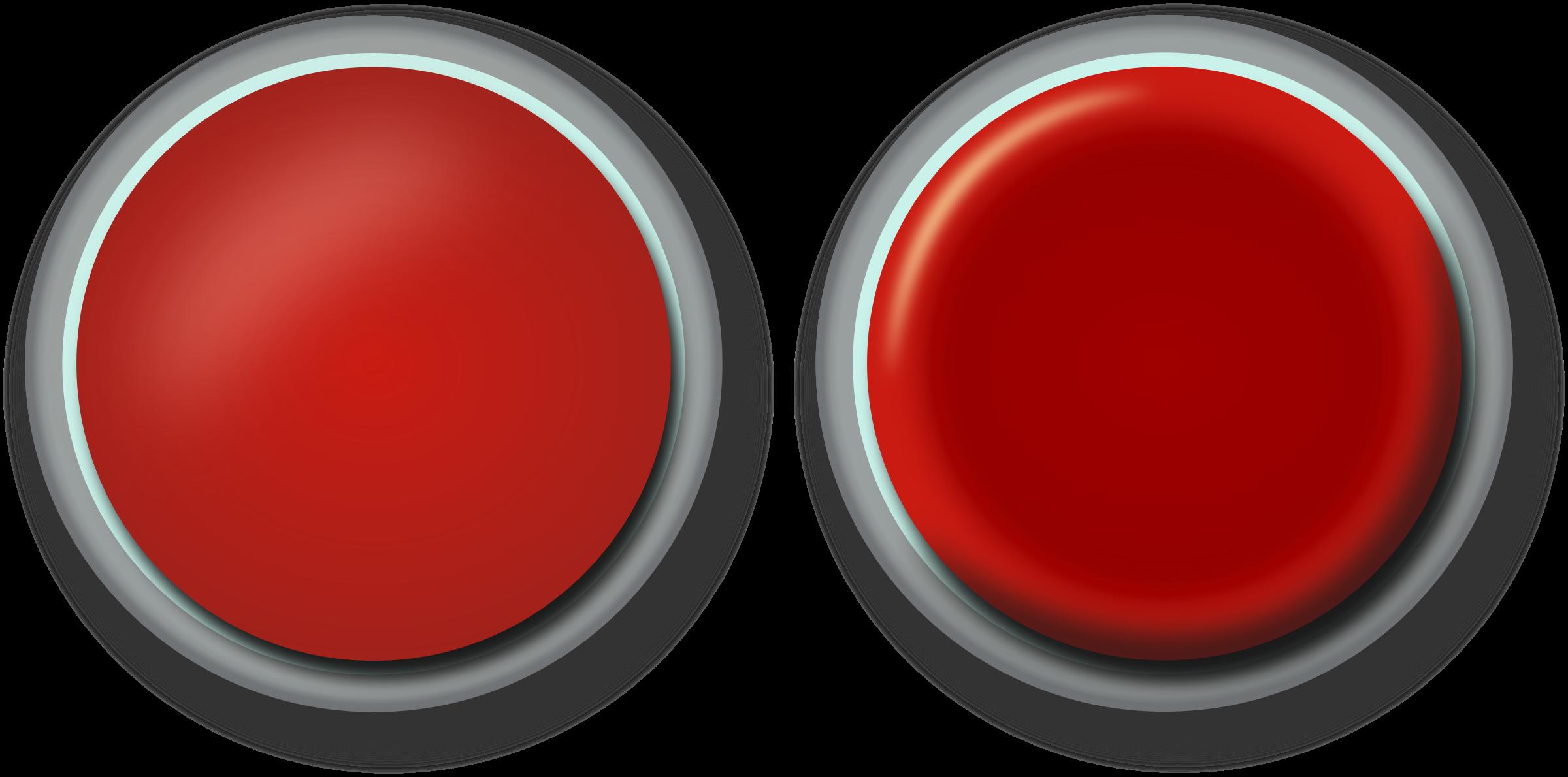 Button clipart press button Red button Clipart Red button