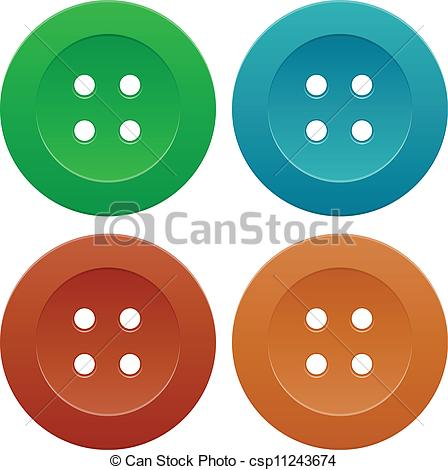 Button clipart sewing button Sewing of of Set Colorful