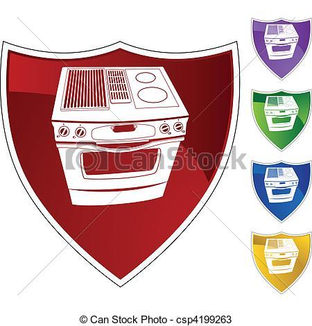 Button clipart stove Stove csp4199263 a Vectors background
