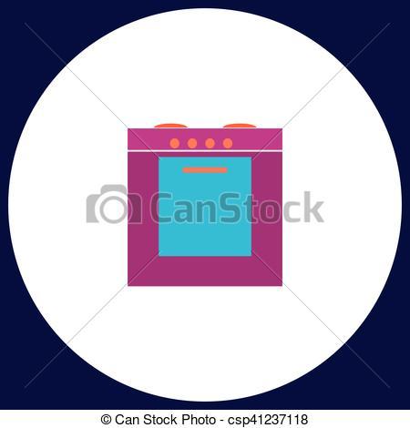 Button clipart stove Stove stove symbol  flat
