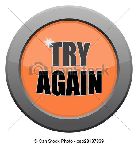 Button clipart try again Again icon Metal Try of