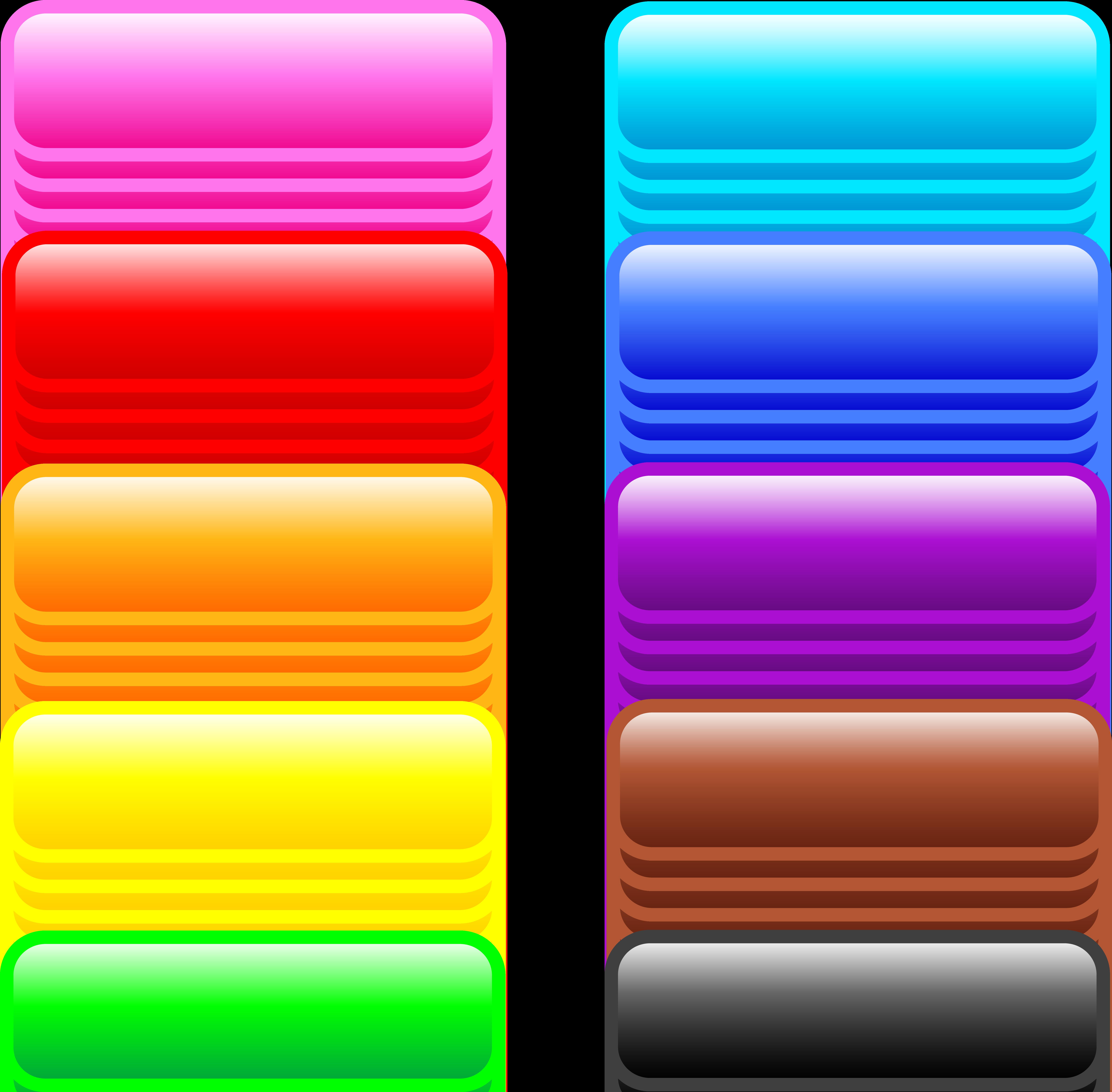 Button clipart website png Shiny Clip Buttons Long Rectangle