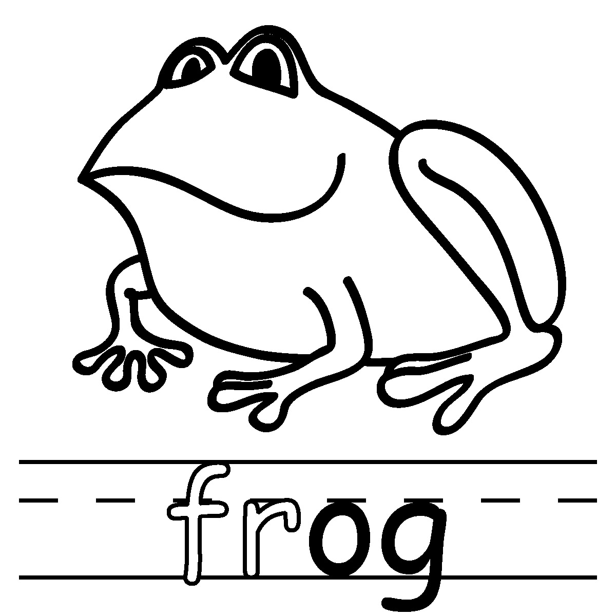 Amphibian clipart coloring page And White Clipart Free Images