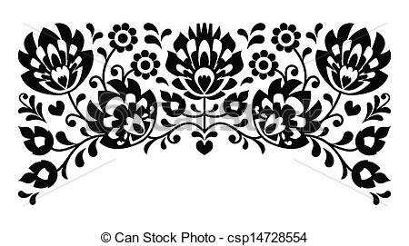 Folk clipart ukrainian Vector csp14728554 b&w of Polish