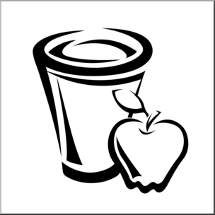 Juice clipart black and white Com Apple Clip B&W preview