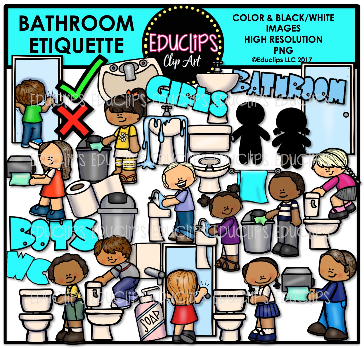 B&w clipart bathroom  Bathroom to (Color Clip