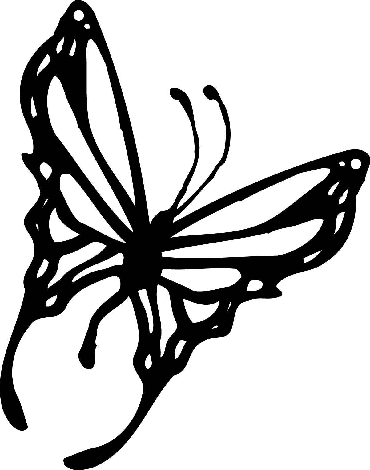 Drawn flying clipart black and white #14