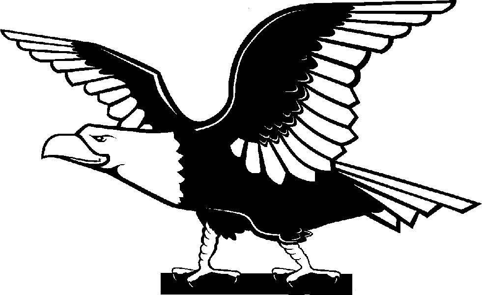 Black Eagle clipart black and white Eagle « American » «