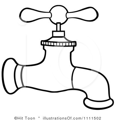 Fawcet clipart black and white Free Water And tap%20clipart Clipart
