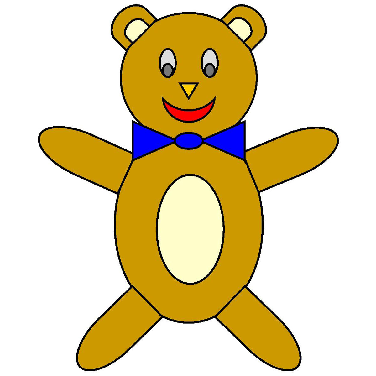 Teddy clipart toy doll #2