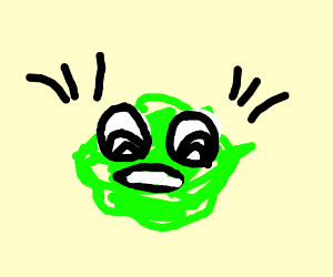 Cabbage clipart angry Angry cabbage man by (drawing