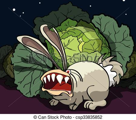 Cabbage clipart angry The of Vector  of