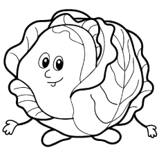 Cabbage clipart coloring Coloring Pages Top Free Vegetables